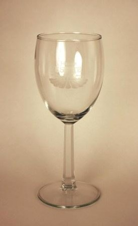 Wine Glass with Johnson Estate Logo - 6 Oz