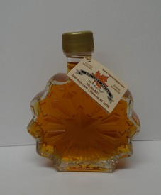 Maple Syrup - Glass Bottle - Snowflake Image