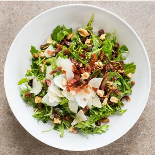 Arugula Salad with Figs, Prosciutto, Walnuts, and Parmesan