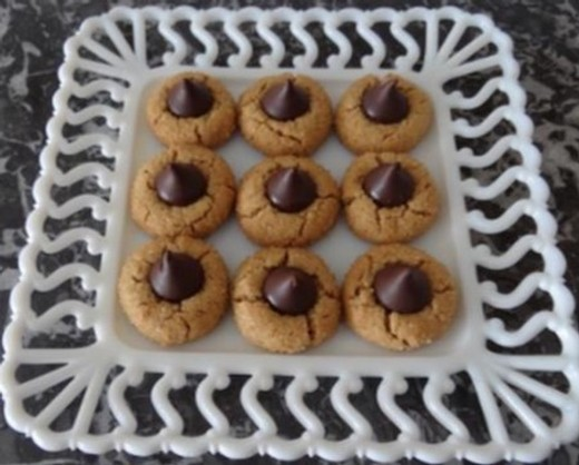 Peanut Butter Blossom Cookies with Dark Chocolate